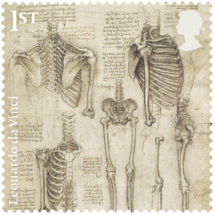 Leonardo Da Vinci Stamp Set Royal Mail
