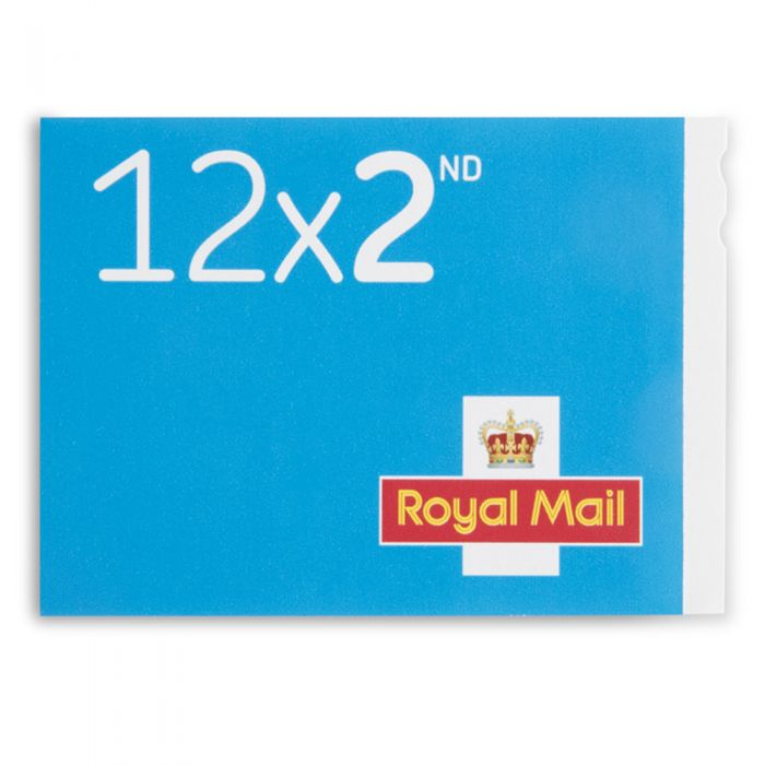 Royal Mail 12 X Secondclass Stampbook Change Of Font