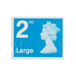 4 X 2nd Class Large Stamp Book Change Of Font Royal Mail