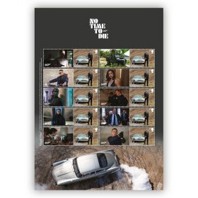 James Bond No Time To Die Collector's Sheet