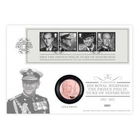 In Memoriam, HRH The Duke of Edinburgh Gold Coin Cover