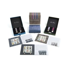 Mc005 Royal Mail The Military Stamps And Miniature Medal Set Collection Special Offer