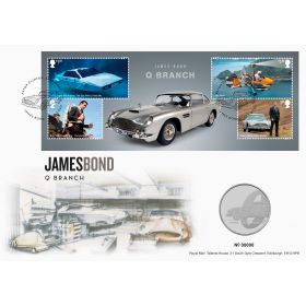 James Bond Q Branch Brilliant Uncirculated Coin Cover