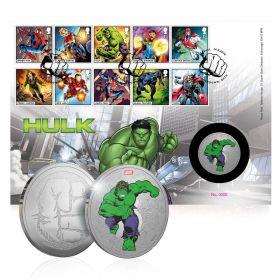 Royal Mail MARVEL Hulk Silver Medal Cover