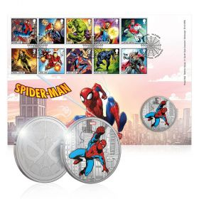 Royal Mail MARVEL Spider-Man Brilliant Uncirculated Medal Cover