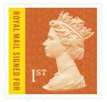 1st Class Royal Mail Recorded Signed for stamp