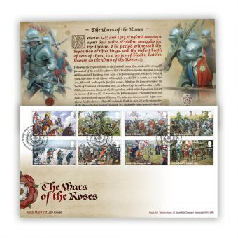 The Wars of the Roses First Day Cover with Tallents House Postmark