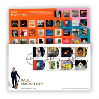Paul McCartney First Day Cover with Liverpool Postmark
