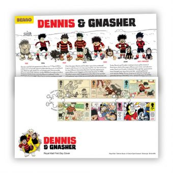 Dennis & Gnasher First Day Cover Stamps wth Dundee Postmark