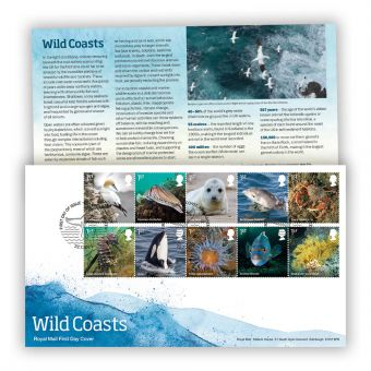 Wild Coast First Day Cover with Coast, Achnasheen Postmark
