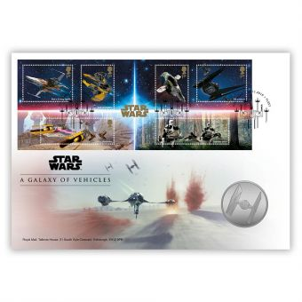 STAR WARS™ A Galaxy of Vehicles Medal Cover