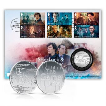Sherlock & Moriarty Limited Edition Silver Medal Cover
