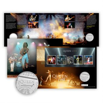 Queen Brilliant Uncirculated Coin Cover