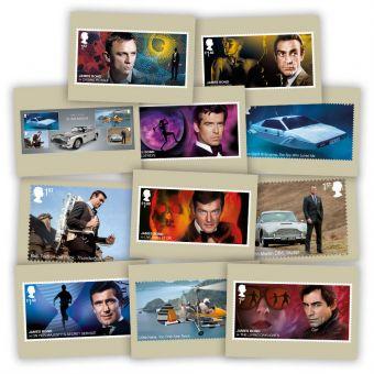James Bond Postcards (11 in set)