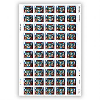 Christmas 2020 Full sheet of 50 x 2nd Class Large Stamps