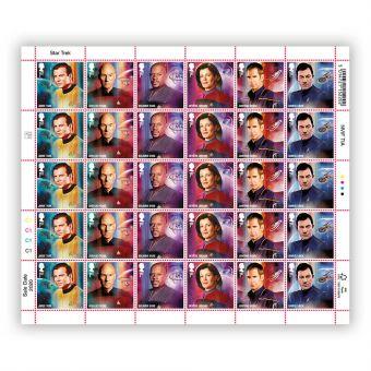 Star Trek Half Sheet 1st Class Stamp x 30 - James T Kirk