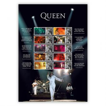 Queen Live Collector's Sheet