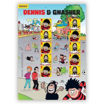Dennis & Gnasher Collector's Sheet