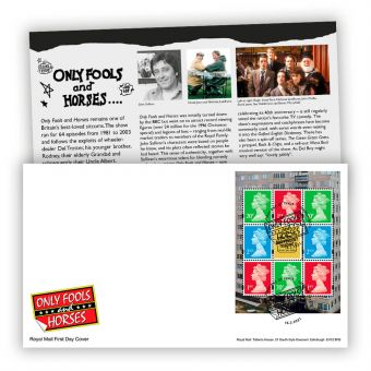 Only Fools and Horses First Day Cover PSB Pane (London, SE15 Postmark)