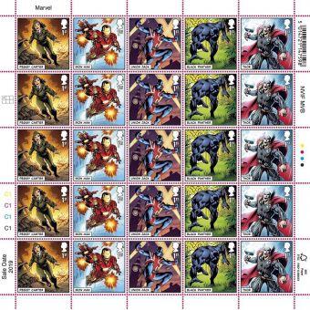 MARVEL Half Stamp Sheet Peggy Carter