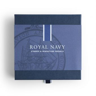Royal Mail Royal Navy Stamps and Miniature Medal Set