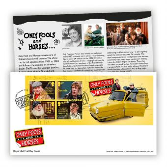 Only Fools and Horses First Day Cover Miniature Sheet (London, SE15 Postmark)