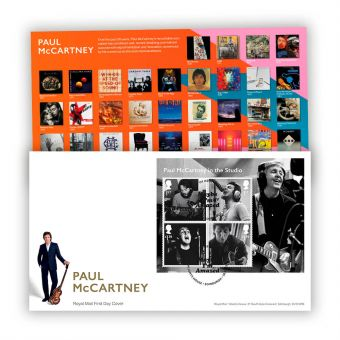 Paul McCartney First Day Cover Miniature Sheet with Tallents House Postmark