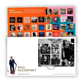 Paul McCartney First Day Cover Miniature Sheet with Liverpool Postmark