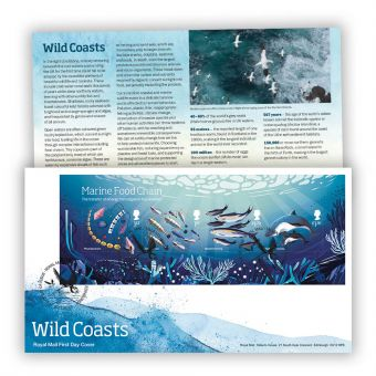 Wild Coasts First Day Cover Stamp Sheet With Tallents House Postmark
