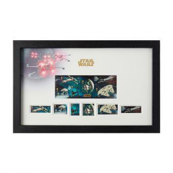 N3077 Royal Mail Star Wars 2015 Framed Vehicles Stamp Sheet Set