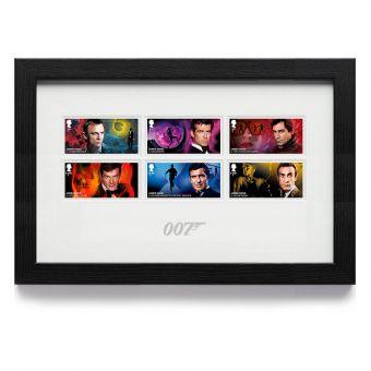 James Bond Framed Stamp Set
