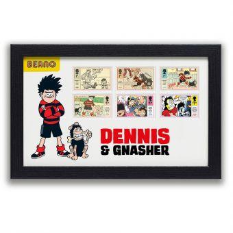 Framed Dennis & Gnasher Stamps