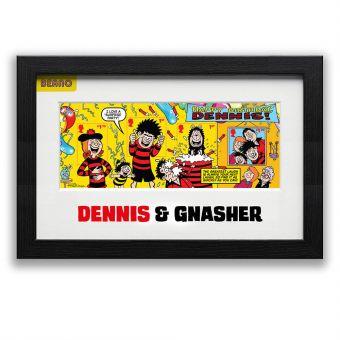 Framed Dennis & Gnasher Stamp Sheet