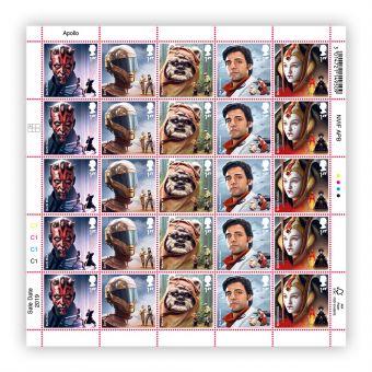 Half sheet of 25 x 1st Class Stamps Darth Maul