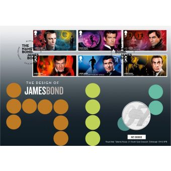 James Bond Brilliant Uncirculated Coin Cover