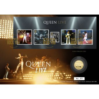 Queen Gold Proof Coin Cover