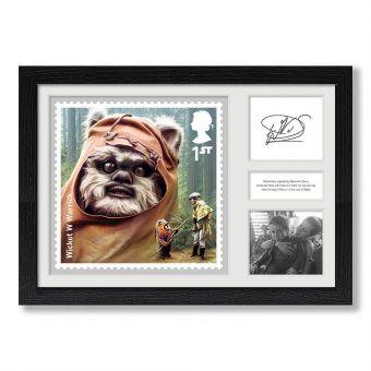 STAR WARS™ Framed Ewok Print Signed by Warwick Davis