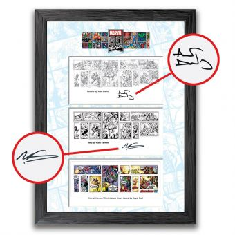 Marvel 80th Anniversary Framed Stamps: Artists Signed Edition