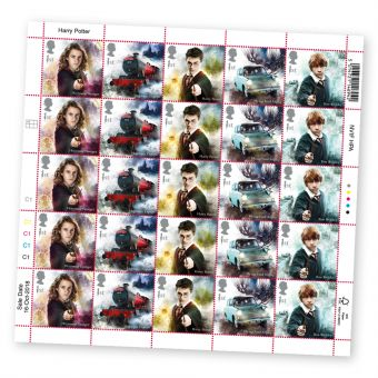 Harry Potter™ Half sheet of 25 x 1st Class Stamps Hermione Granger