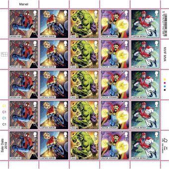 MARVEL Half Stamp Sheet Spider-man