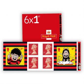 Dennis & Gnasher 6 x 1st Class Stamp Book