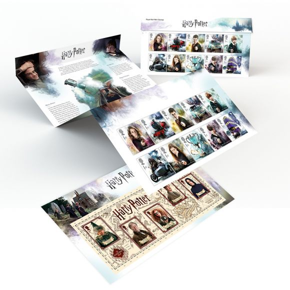 Harry Potter Set of Ten Mint Stamps