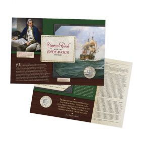Captain Cook Brilliant Uncirculated Coin Cover