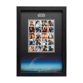N3111 Royal Mail Framed Star Wars Character Stamps 2015 And 2017 1