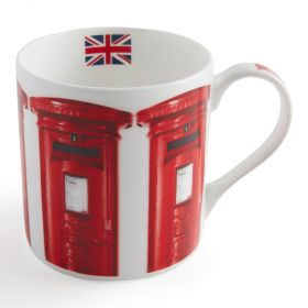 Nk033 Royal Mail Bone China Mug Large Red Postboxes