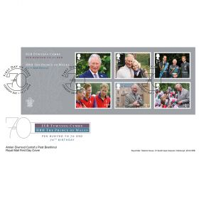 HRH The Prince of Wales 70th Birthday Stamp Sheet Souvenir
