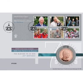 HRH Prince Charles 70th Birthday Silver Coin Cover