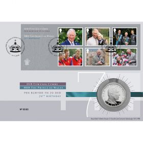 HRH Prince Charles 70th Birthday Brilliant Uncirculated Coin Cover