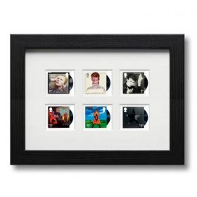 David Bowie Framed Stamps