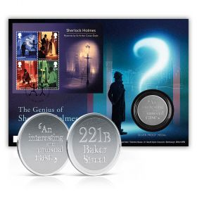 The Genius of Sherlock Holmes Limited Edition Silver Medal Cover